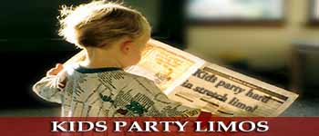 Limos for kids parties + party transfers